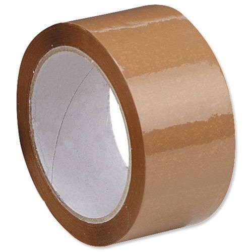 *Business Quality Packaging Tape 50 x 66m Brown [Single]*