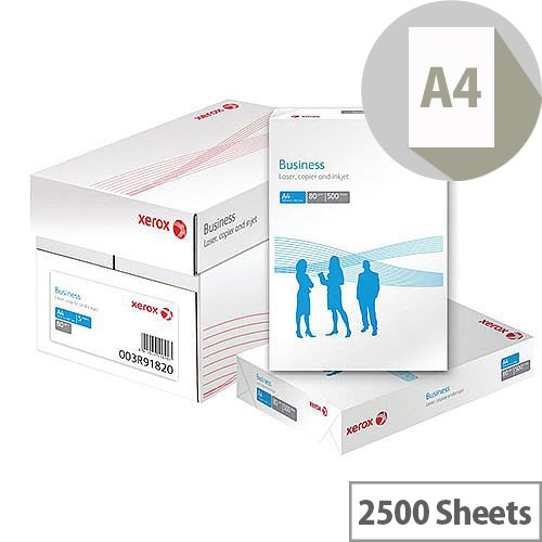 Xerox Business Multifunctional Paper Ream-Wrapped 80gsm A4 White Ref 62283 [2500 Sheets]
