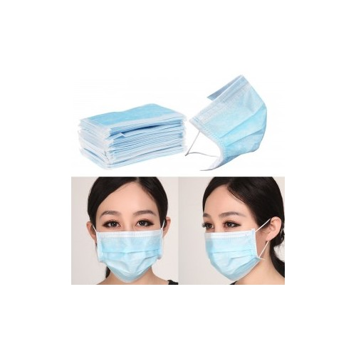 3 Ply Disposable Face Mask Pack 50