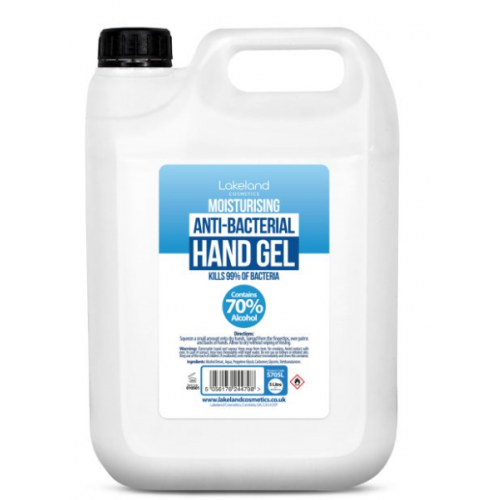 Moisturising Anti-Bacterial Hand Gel 5l With Alcohol