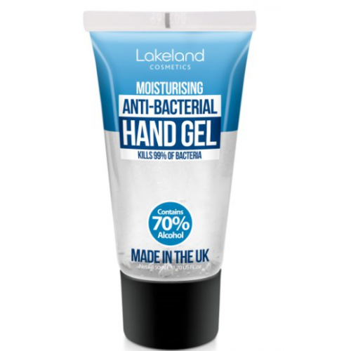 Moisturising Anti-Bacterial Hand Gel 50ml with alcohol