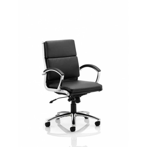 Executive Chair Med Back w/ Arms Black