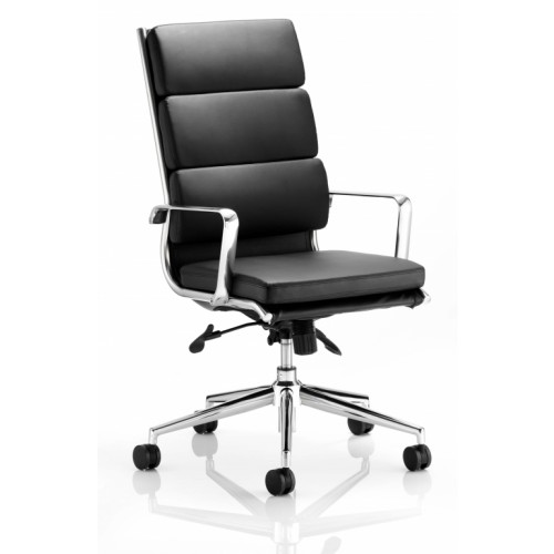 Executive Black Bonded Leather High Back With Arms