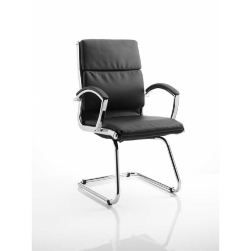 Visitor Cantilever Chair Black With Arms