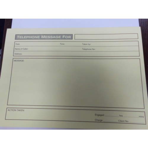 A5 Telephone Message Pads Yellow Pk(10)