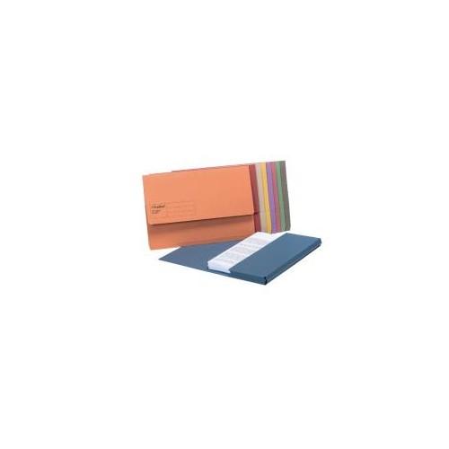 Short Flap Doc Wallets Blue GDW1