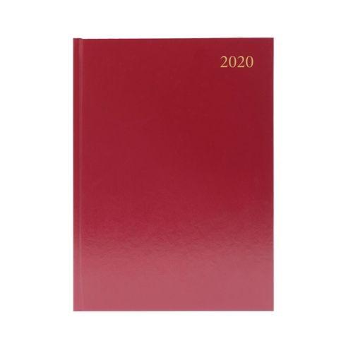Burgundy A4 Desk Diary DPP 2020