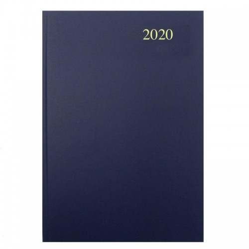 Diary A5 Day Page Diary Black 2020