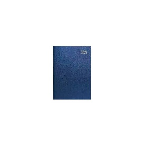 Diary A5 Day Page Diary Blue 2020