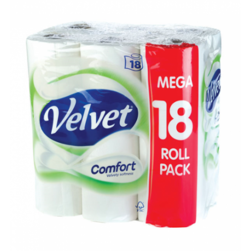 Velvet Comfort Toilet Roll Pk18 2Ply