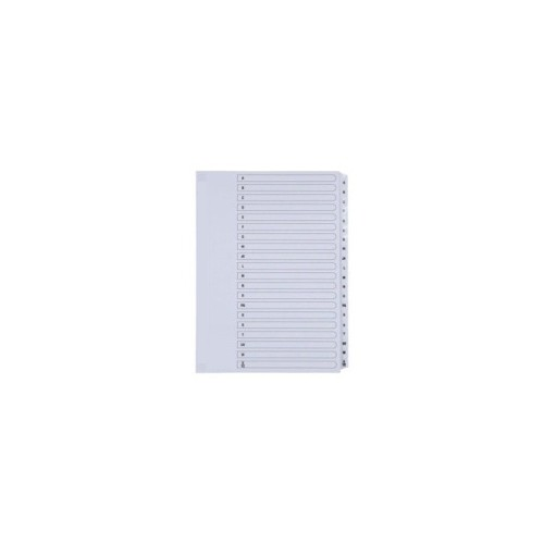 Index A4 1-25 White Mylar Tab