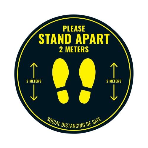 Social Distance Floor Sticker 400mm Circular (Pack of 5)