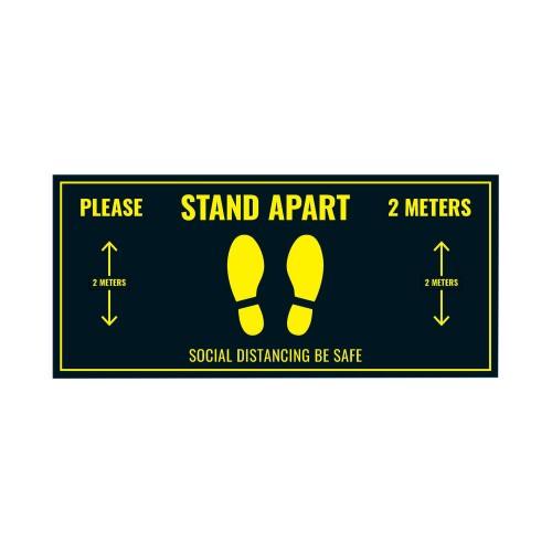 Social Distance Floor Sticker 400x180mm (Pack of 5)