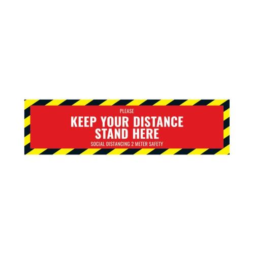 Social Distance Floor Sticker 500x130mm (Pack of 5)