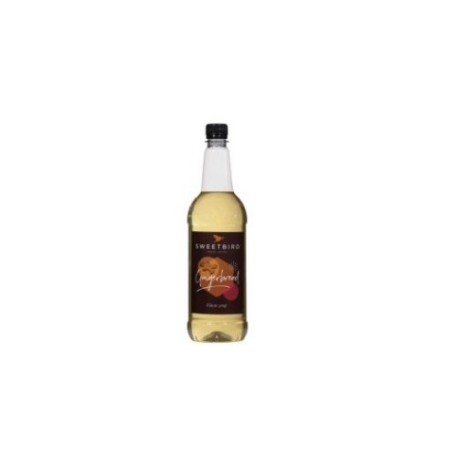 Sweetbird Gingerbread Coffee Syrup 1litre (Plastic) Pack 6 Bottles