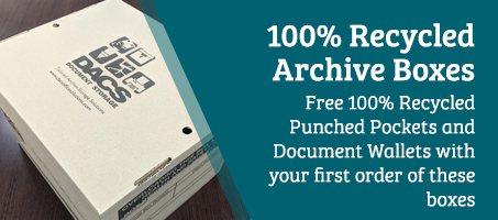 FREE 100% recycled punch pockets and document wallets!