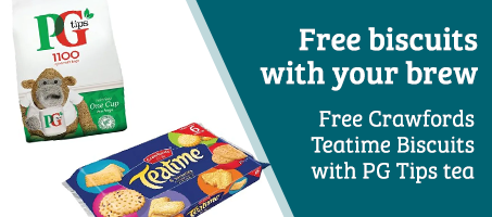 Free Crawfords Teatime biscuits with PG Tips