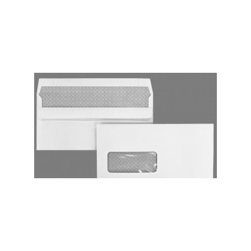 DL White Window Self Seal Wallet 100gsm