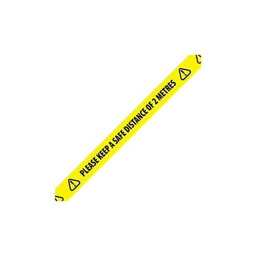Safe Distancing Tape 48mm x 33m Yellow/Black  (Pack of 192)
