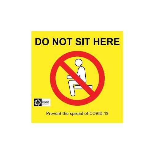 Coronavirus Seat Graphic  COSEAT1V