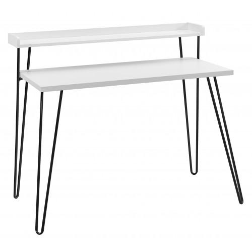 Haven Retro Desk with Riser - White