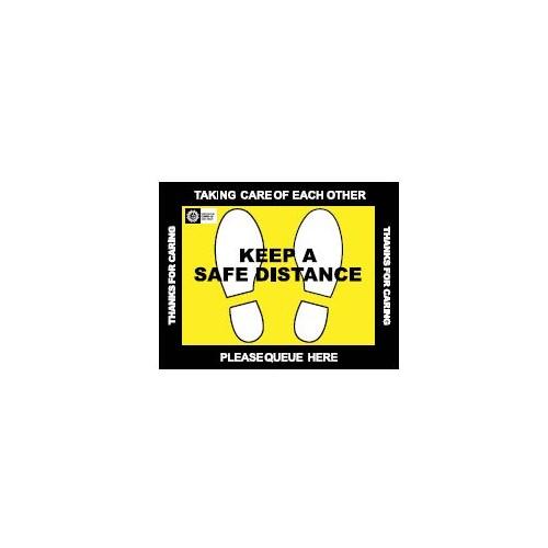 Keep a Safe Distance Floor Decal