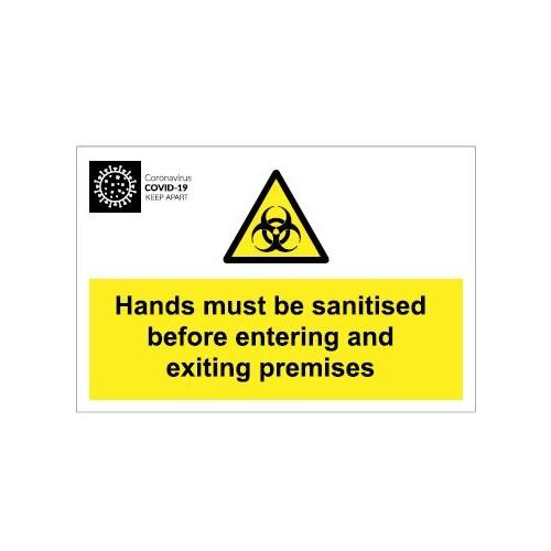 Coronavirus Biohazard Sign - Aluminium