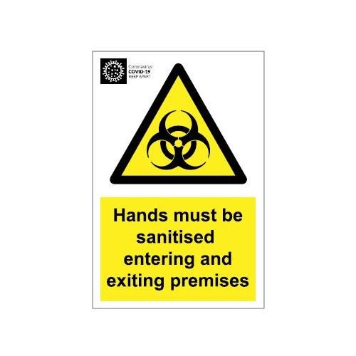 Coronavirus Biohazard Door Sign - PVC