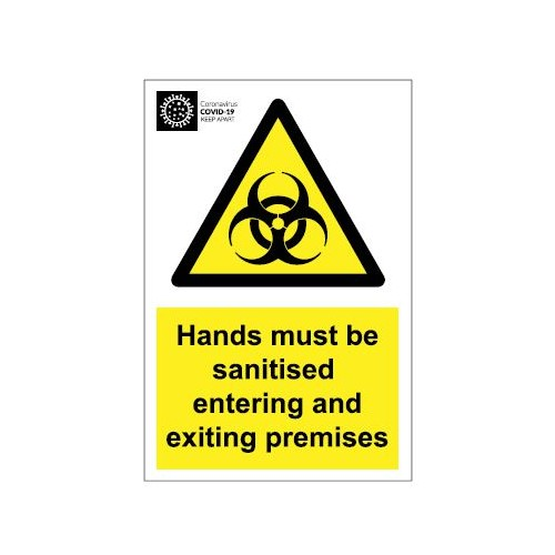 Coronavirus Biohazard Door Sign - Self Adhesive