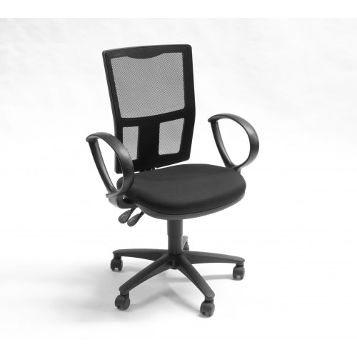 Aro Mesh Back Operator Chair -  Fixed Arms