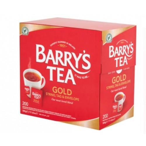 Barrys Gold Blend Tea Bags String & Tag Pk200
