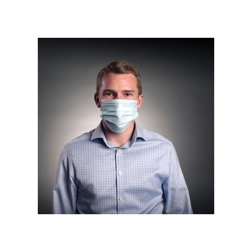 Disposable Medical Surgical Mask, Non Woven 3Ply Masks in Blue (Pack of 50)