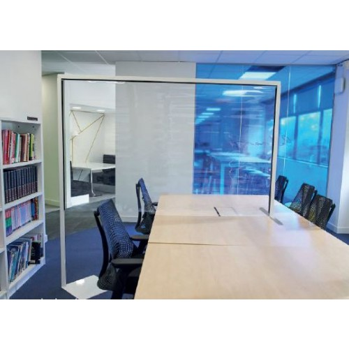 CLEAR POLYVINYL PROTECTIVE DESK DIVIDER SCREEN (width 1200 x depth 35 x height 2000mm)