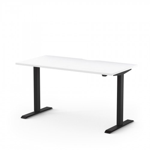 Alto Electric Sit Stand Desk 1200mm x 700mm for Home Use - White Top and Black Legs