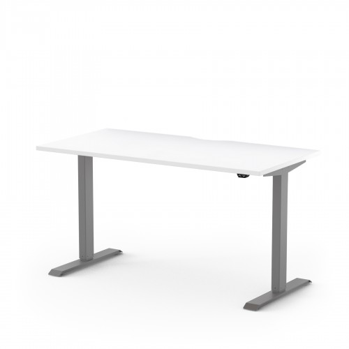 Alto Electric Sit Stand Desk 1200mm x 700mm for Home Use - White Top and Silver Legs