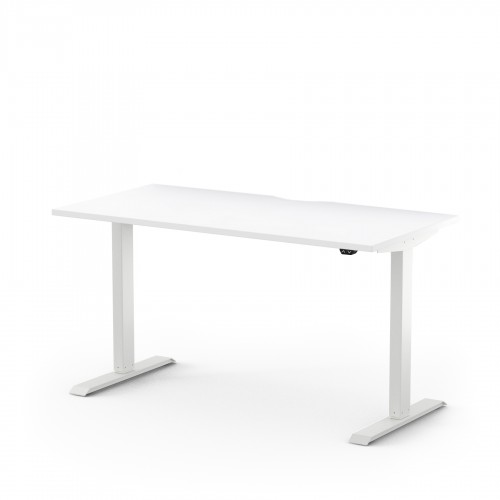 Alto Electric Sit Stand Desk 1200mm x 700mm for Home Use - White Top and White Legs