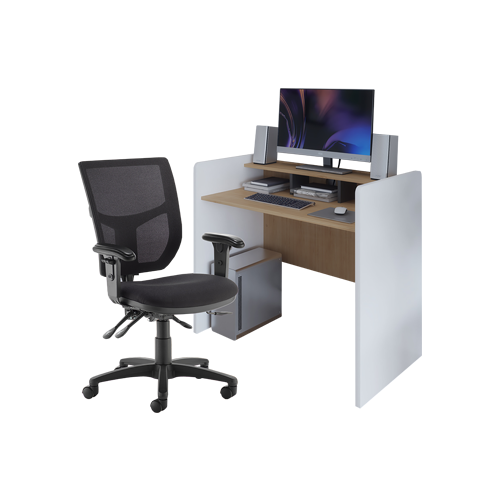 Home Office Workstation and Chair Bundle
