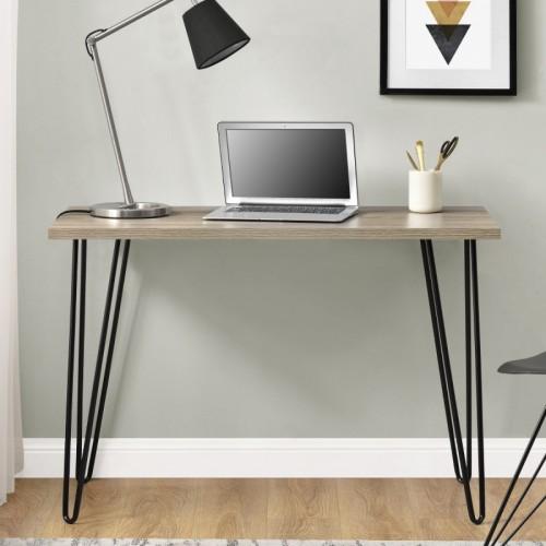 Owen Retro Desk - Rustic Oak