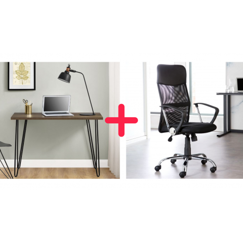 Home Office Desk and Chair Bundle 2