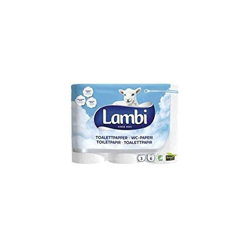 Lambi Luxury 3Ply White 24 Toilet Rolls KAT83931