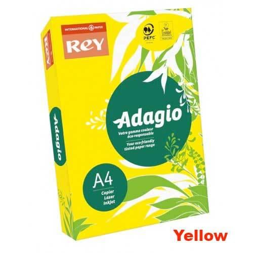A4 80gsm Bright Yellow Paper (500 Sheets)