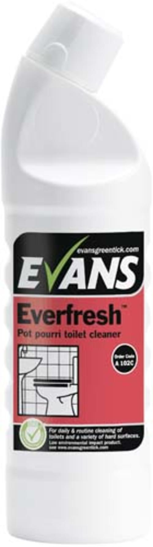 Evans Vanodine Toilet and Washroom Cleaner 6 x 1 litre
