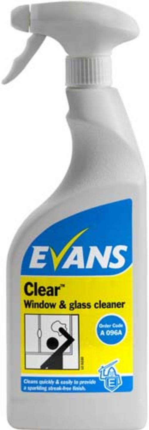 Evans Vanodine Window, Glass and Stainless Steel Cleaner 6 x 750 ml