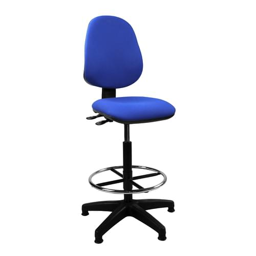 Medium Back Draughtsman Chair - Twin Lever
