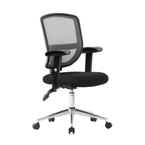Medium Back Two Tone Designer Mesh Operator Chair with Sculptured Lumbar, Spine Support and Height Adjustable Arms