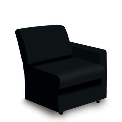 Contemporary Modular Fabric Low Back Sofa - Left Hand Arm