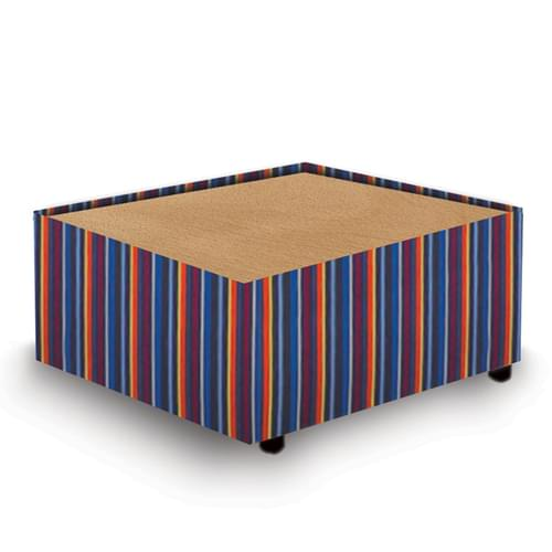 Contemporary Modular Fabric Table Unit with Beech Top