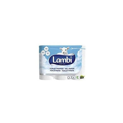 Lambi Luxury 3Ply White 24 Toilet Rolls KAT83931