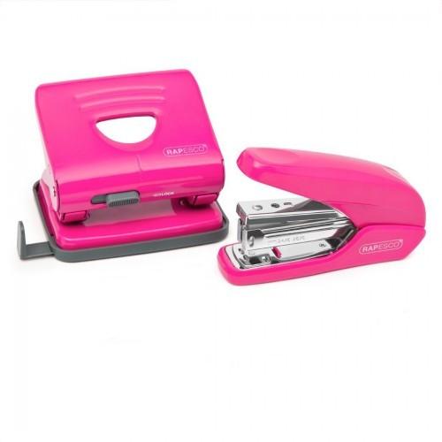 Rapesco Hot Pink Desktop Supplies Bundle Offer