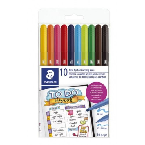 Staedtler Double Ended Handwriting Pens / Markers
